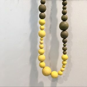 Anthropologie Over-sized Wooden Beaded Necklace